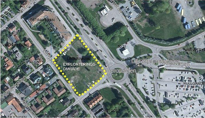 Borlänge, Borlänge kommun: Bygg bostäder på Lärarinnan! Markanvisning av fastigheten Borlänge Lärarinnan 7. Bild: Borlänge kommun.